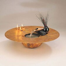 <strong>Nayer Kazemi</strong> Copper Water and Fire Circular Tabletop Fountain