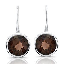 Moonstruck Sterling Silver and Smoky Quartz 11 ct Earrings