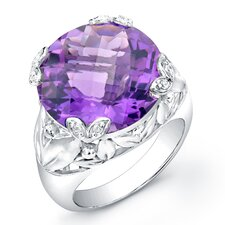 Ivy Brilliant Diamond and Gemstone Ring in Sterling Silver