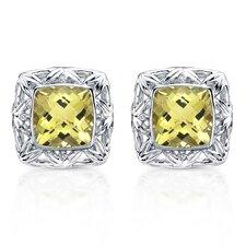 Chrysalis Brilliant Diamond and Gemstone Earrings in Sterling Silver