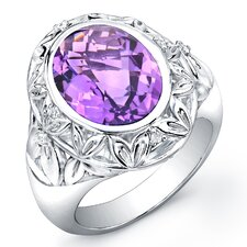Dawn Brilliant Diamond and Gemstone Ring in Sterling Silver