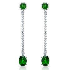 Elegance Brilliant Diamond and Gemstone Earrings in Sterling Silver