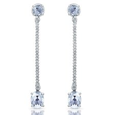 Elegance Brilliant Diamond and Gemstone Earrings in Sterling Silver