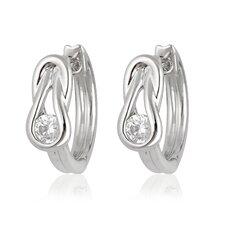 Silver-Tone Cubic Zirconia Fashion Earrings