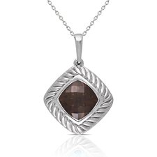 <strong>Élan Jewelry</strong> Sterling Silver Gemstone Pendant