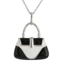 Sterling Silver Purse Gemstone Pendant