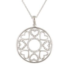 Sterling Silver Cubic Zirconia Fashion Pendant