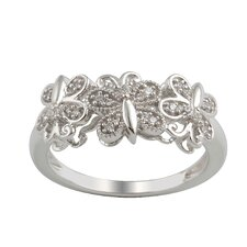Sterling Silver Cubic Zirconia Fashion Ring