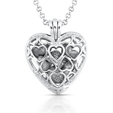<strong>Élan Jewelry</strong> Sterling Silver Heart Diamond Pendant Necklace