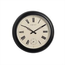 Black Waterloo Wall Clock with Frame