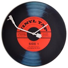"16.9"" Old Fashioned Turntable Wall Clock"