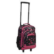 "18"" Telescoping Print Pattern Rolling Backpack"