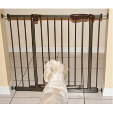 Auto-Close Pressure Mounted Pet Gate with 2 Extensions