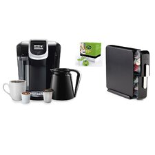 2.0 K350 Brewing System with Countertop Storage Drawer and Mountain Breakfast Blend K-Cups