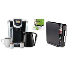 2.0 K450 Brewing System with Countertop Storage Drawer and Mountain Breakfast Blend K-Cups