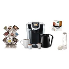 Keurig® 2.0 K450 Brewing System with 2.0 Carousel, Water Filter Refills, and Starbucks House Blend K-Cups