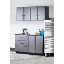 Tuff-Stor 4 Piece Storage System in Charcoal Grey and Textured Black
