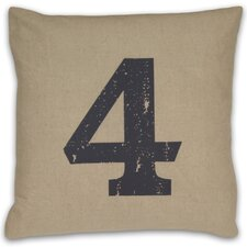 <strong>DR International</strong> Numeral 4 Pillow