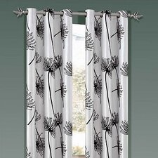 <strong>DR International</strong> Soleil Taffeta Flock Grommet Curtain Single Panel