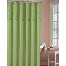 Annecy Polyester Pin Tuck Shower Curtain