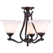Devonshire 3 Up-Light Chandelier