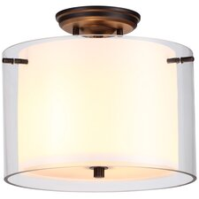 "<strong>DVI</strong> Essex 12"" 2 Light Semi Flush Mount"