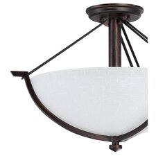 Key West 3 Light Semi Flush Mount