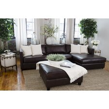 Urban Top Grain Leather Right Arm Facing Sectional