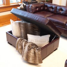 <strong>Elements Fine Home Furnishings</strong> Chateau Leather Cocktail Ottoman