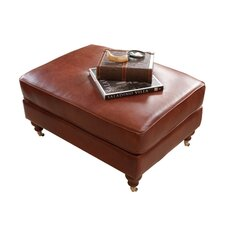 Cambridge Leather Cocktail Ottoman