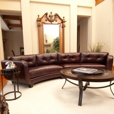 <strong>Elements Fine Home Furnishings</strong> Vittorio Leather Sectional