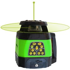 Electronic Self-Leveling Horizontal and Vertical Rotary Laser Kit with GreenBrite Technology