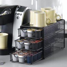 54 Coffee Pod Drawer in Black Satin