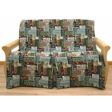 Road Trip 5 Piece Full Skirted Futon Cover Set