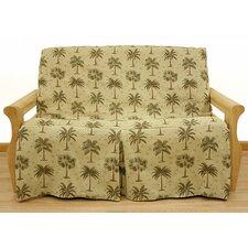 Desert Palm 5 Piece Full Skirted Futon Cover Set