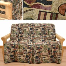Hip Hop 5 Piece Full Skirted Futon Cover Set