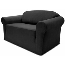 <strong>Easy Fit</strong> Stretch Pique Loveseat Slipcover