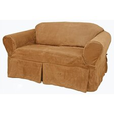 Suede Loveseat Slipcover
