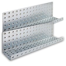 Galvanized Steel Pegboard Shelves