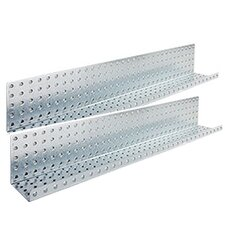 "32"" x 5"" Metal Pegboard Shelves"