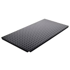 <strong>Alligator Board</strong> Powder Coated Metal Pegboard Panels with Flange in Black
