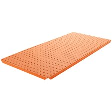 Powder Coated Metal Pegboard Panels with Flange in Orange