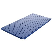 Powder Coated Metal Pegboard Panels with Flange in Blue