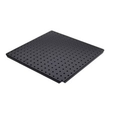 <strong>Alligator Board</strong> Metal Pegboard Panels with Flange in Black