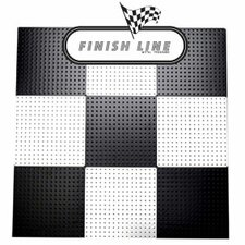 Powder Coated Metal Pegboard Panels with Flange in Black and White