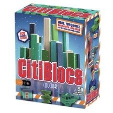 <strong>Citiblocs</strong> 50 Piece Cool Colors Construction Set