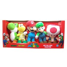 <strong>Goldie Marketing</strong> Super Mario Small Plush (Set of 5)
