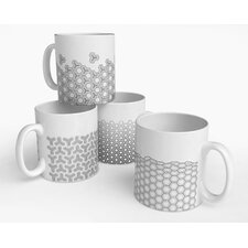 Hex Mixed Mug (Set of 4)