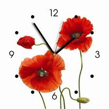 """Wanduhr """"My Clock"""" mit Klatschmohn-Dekor"""