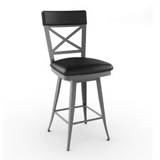 "Library Luxe Style 30"" Windsor Swivel Bar Stool"
